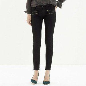 Madewell Skinny Skinny Biker Zip Black Jeans